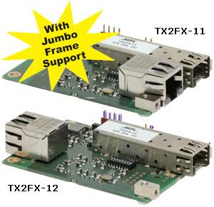 Ethernet to fiber optic converter