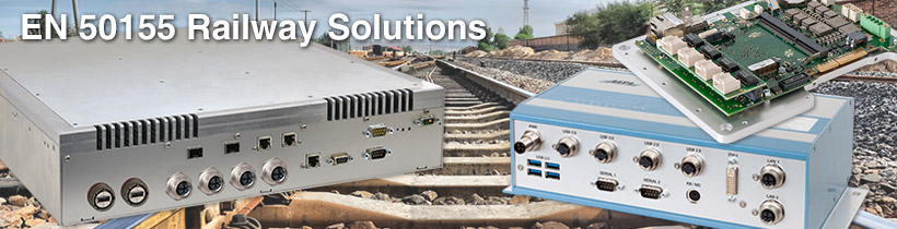 Railway Solutions with EN50155 Certification